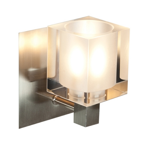Access Lighting Access Lighting Astor Brushed Steel Sconce 23831-BS/FCL