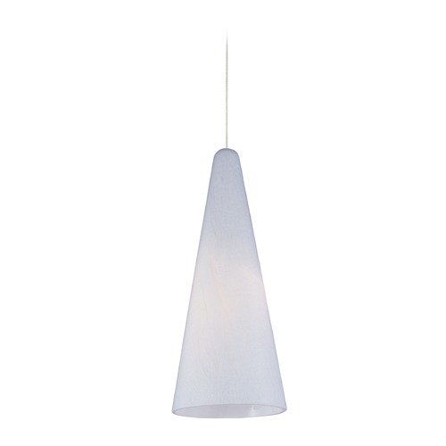 ET2 Lighting Minx Satin Nickel Mini-Pendant Light with Conical Shade E94328-101SN
