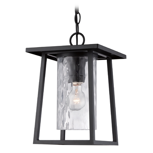 Quoizel Lighting Quoizel Lodge Mystic Black Outdoor Hanging Light LDG1909K