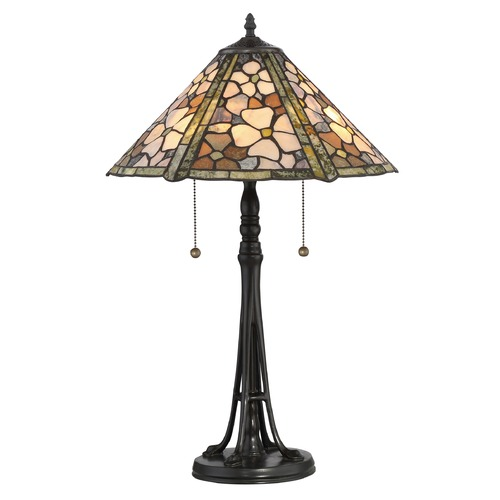 Quoizel Lighting Quoizel Lighting Jade Portable Vintage Bronze Table Lamp with Conical Shade JD2077TVB