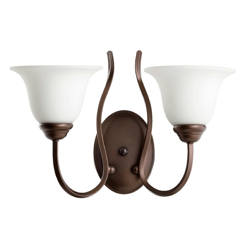 Quorum Lighting Quorum Lighting Spencer Oiled Bronze Sconce 5510-2-186