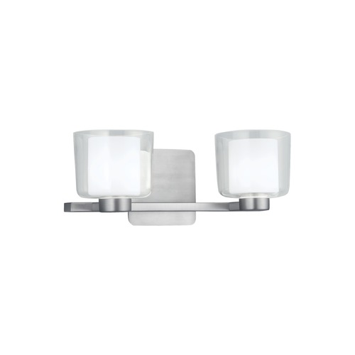 Norwell Lighting Norwell Lighting Alexus Brush Nickel Bathroom Light 5332-BN-CL