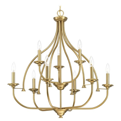 Progress Lighting Progress Lighting Tinsley Brushed Bronze 9-Light Chandelier P400067-109