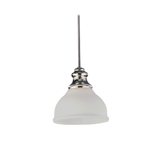 Hudson Valley Lighting Mini-Pendant Light with White Glass 5921-OB