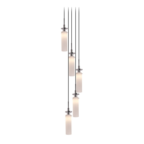 Sonneman Lighting Modern Pendant Light with White Glass in Polished Chrome Finish 3035.01