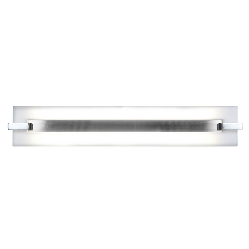 Access Lighting Modern Bathroom Light with White Glass in Brushed Steel Finish 31021-BS/ACR
