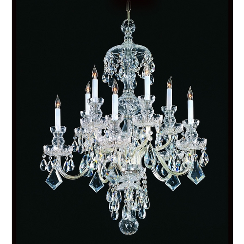 Crystorama Lighting Crystal Chandelier in Polished Chrome Finish 1140-CH-CL-MWP