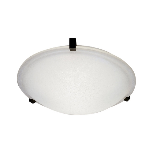 PLC Lighting Modern Flushmount Light with White Glass in Polished Brass Finish 3442 PB