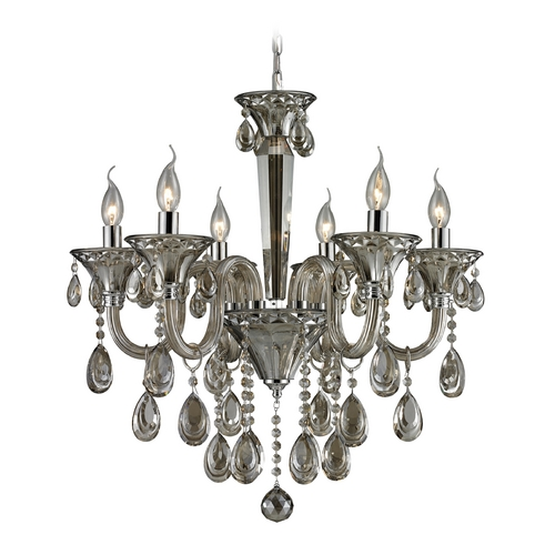 Elk Lighting Crystal Chandelier in Teak Plated Finish 80022/6