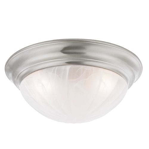 Design Classics Lighting 16-Inch Satin Nickel Flushmount Ceiling Light 563-09
