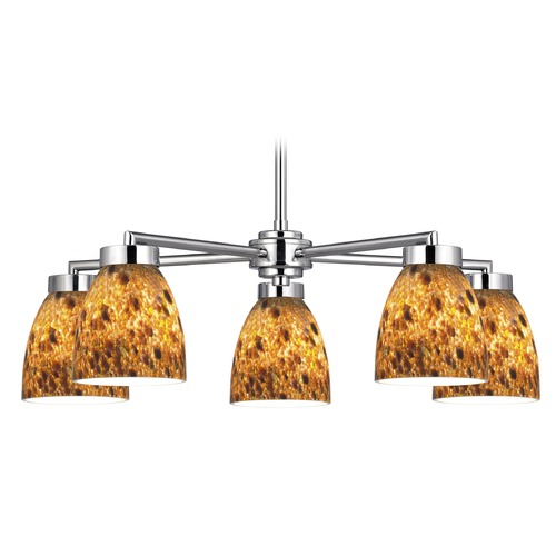 Design Classics Lighting Design Classics Mateo Fuse Chrome Chandelier 590-26 GL1005MB