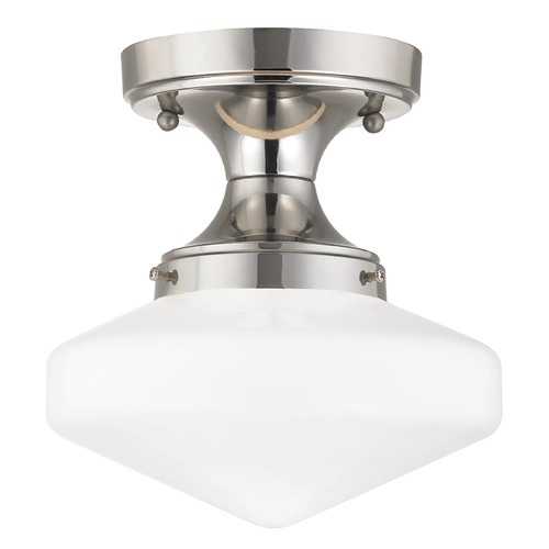 Design Classics Lighting 8-Inch Wide Retro Style Schoolhouse Ceiling Light FDS-15 / GE8