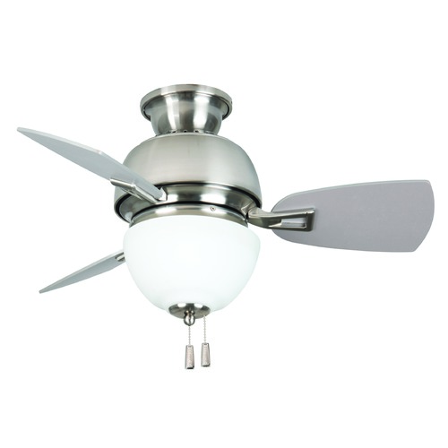 Craftmade Lighting Dane Stainless Steel Ceiling Fan With