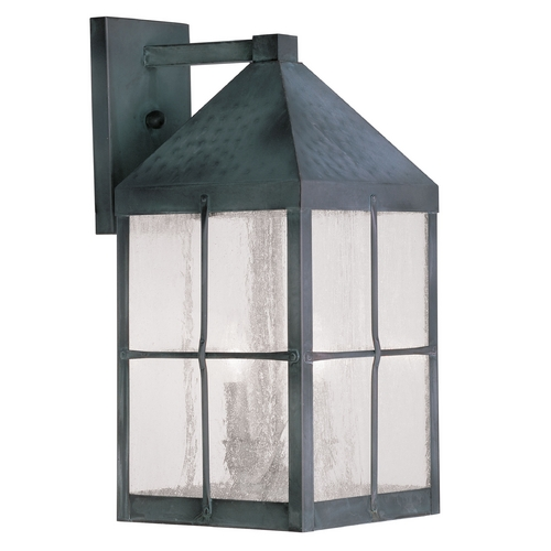 Livex Lighting Livex Lighting Brighton Hammered Charcoal Outdoor Wall Light 2682-61