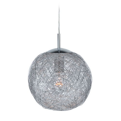 Lite Source Lighting Lite Source Lighting Kolina Chrome Pendant Light with Globe Shade LS-19374