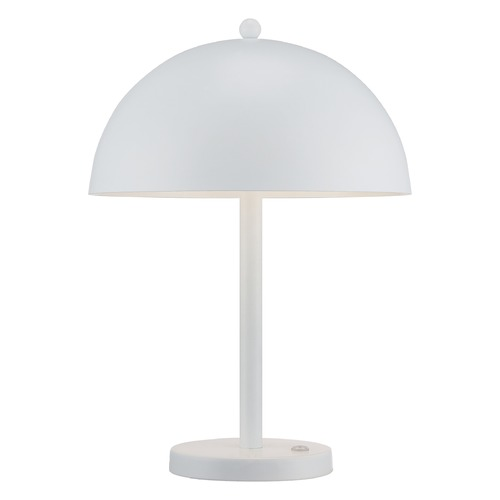 George Kovacs Lighting George Kovacs White LED Table Lamp with Bowl / Dome Shade P302-044-L