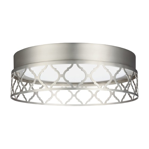 Feiss Lighting Feiss Lighting Amani Satin Nickel LED Flushmount Light FM501SN-LED