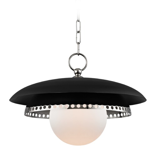Hudson Valley Lighting Hudson Valley Lighting Herikimer Polished Nickel Pendant Light with Globe Shade 3317-PN