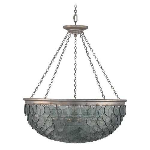 Currey and Company Lighting Currey and Company Quorum Silver Leaf Pendant Light 9511
