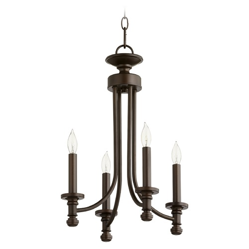 Quorum Lighting Quorum Lighting Rossington Oiled Bronze Mini-Chandelier 6022-4-86