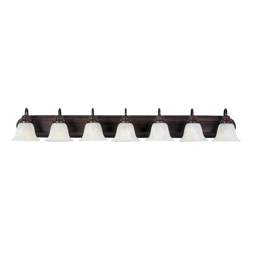 Maxim Lighting Bathroom Light with White Glass in Oil Rubbed Bronze Finish 8016MROI