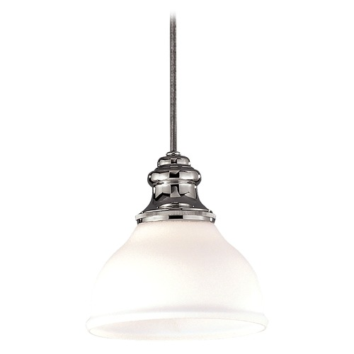 Hudson Valley Lighting Mini-Pendant Light with White Glass 5921-PN