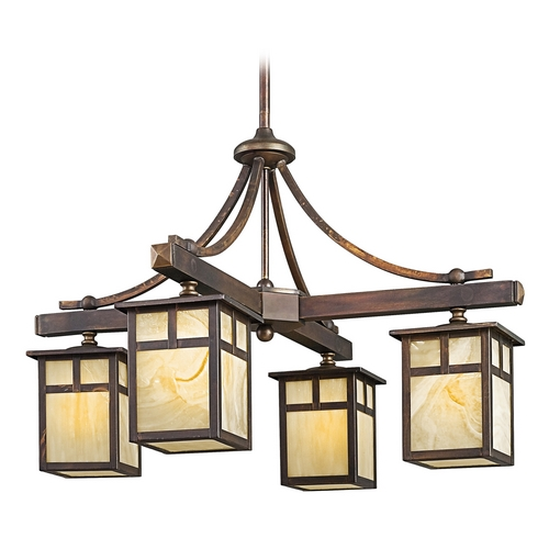 Kichler Lighting Kichler Chandelier with Beige / Cream Glass in Canyon View Finish 49091CV