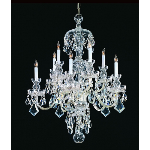 Crystorama Lighting Crystal Chandelier in Polished Chrome Finish 1140-CH-CL-S