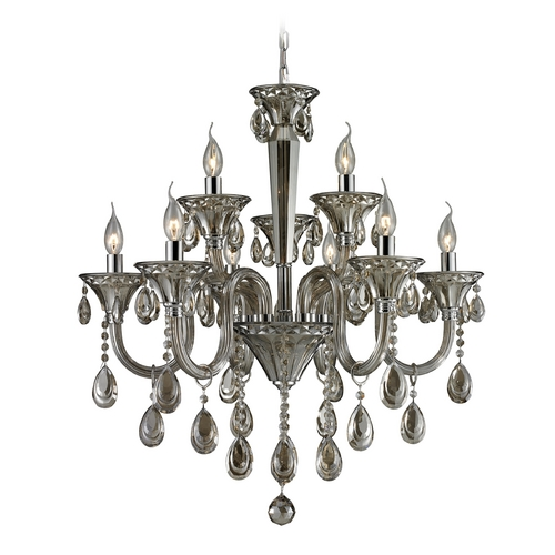 Elk Lighting Crystal Chandelier in Teak Plated Finish 80023/6+3
