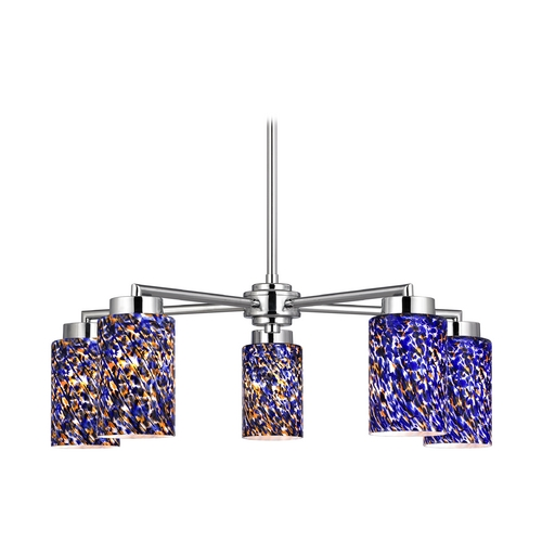 Design Classics Lighting Modern Chandelier with Five Lights 590-26 GL1009C