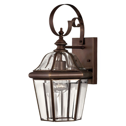 Hinkley Lighting Outdoor Wall Light with Clear Glass in Copper Bronze Finish 2450CB