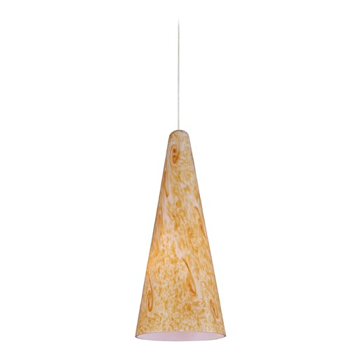 ET2 Lighting Minx Satin Nickel Mini-Pendant Light with Conical Shade E94330-103SN