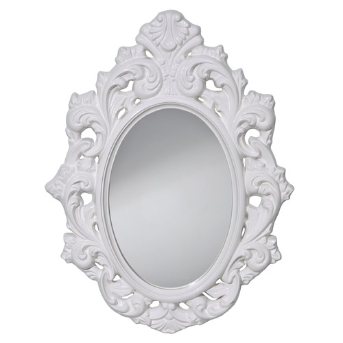 Feiss Lighting Resplendent Oval 24.5-Inch Mirror MR1226HGW