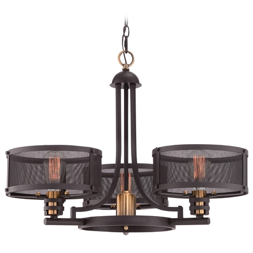 Quoizel Lighting Quoizel Union Station Western Bronze Chandelier UST5003WT