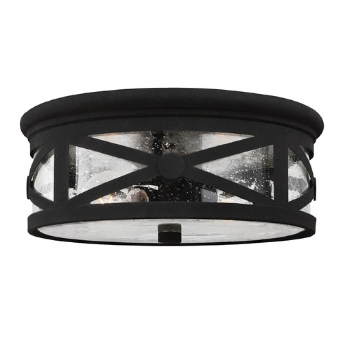 Sea Gull Lighting Sea Gull Lighting Lakeview Black Close To Ceiling Light 7821402-12