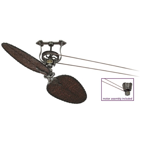 Fanimation Fans Fanimation Fans Brewmaster Pewter Ceiling Fan Without Light FP1280PW-D4A-S1