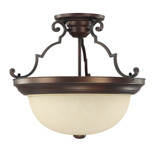 Capital Lighting Capital Lighting Burnished Bronze Semi-Flushmount Light 2747BB