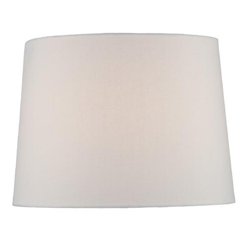 Lite Source Lighting White Drum Lamp Shade with Spider Assembly CH1260-16