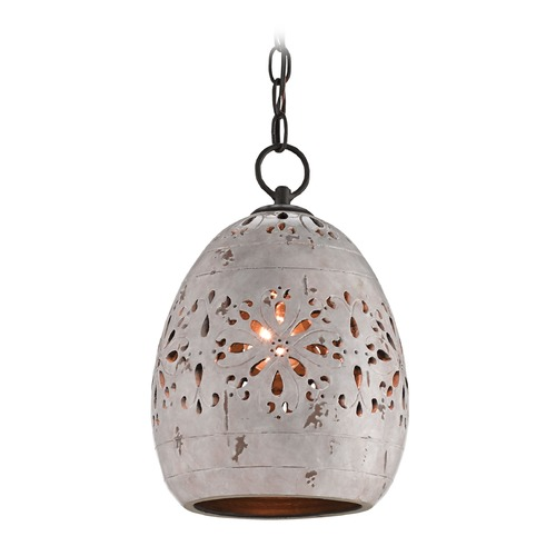 Currey and Company Lighting Currey and Company Platz Distressed Cloud / Old Iron Pendant Light 9518
