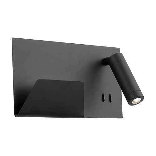 Kuzco Lighting Kuzco Lighting Dorchester Black LED Sconce WS16811R-BK