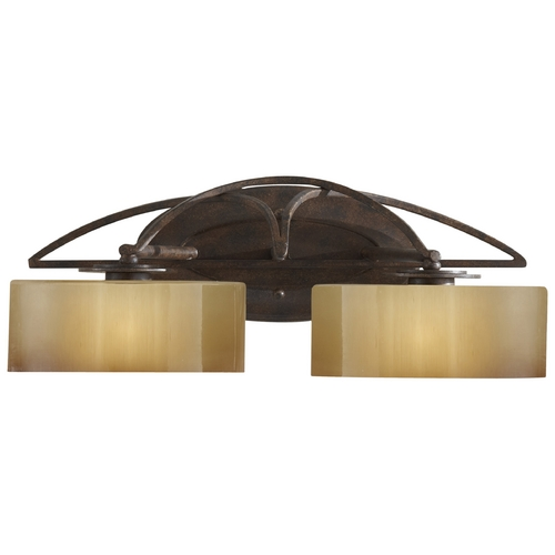 Feiss Lighting Bathroom Light with White Glass in Mocha Bronze Finish VS17802-MBZ
