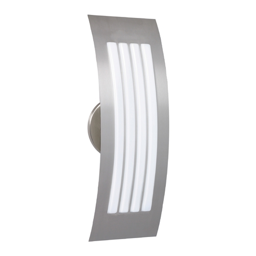 Besa Lighting Modern Sconce Wall Light with White Glass in Stainless Steel Finish 785538-SS