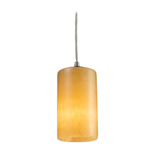 Elk Lighting Modern Mini-Pendant Light with Orange Shade 10169/1