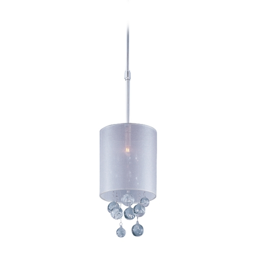 ET2 Lighting Modern Mini-Pendant Light with Silver Shade E22382-120PC
