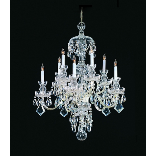Crystorama Lighting Crystal Chandelier in Polished Chrome Finish 1140-CH-CL-SAQ