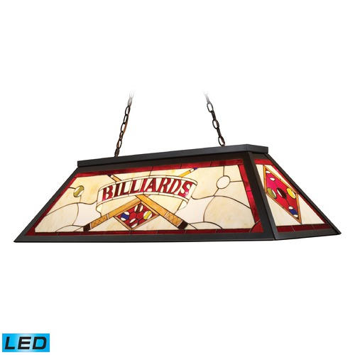 Elk Lighting Elk Lighting Tiffany Lighting Tiffany Bronze LED Billiard Light with Rectangle Shade 70053-4-LED