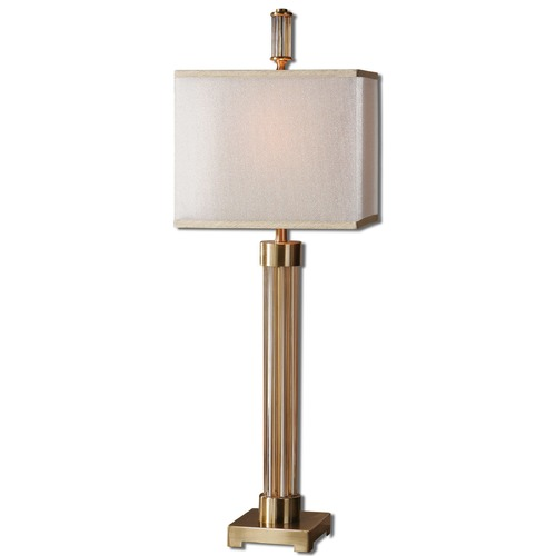 Uttermost Lighting Uttermost Moraira Amber Glass Buffet Lamp 29938-1