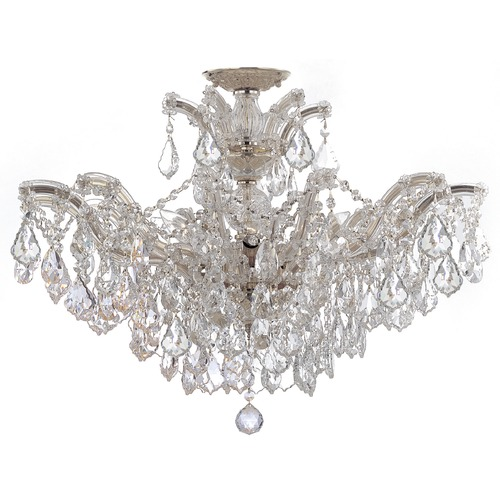 Crystorama Lighting Crystorama Lighting Maria Theresa Polished Chrome Semi-Flushmount Light 4439-CH-CL-SAQ_CEILING