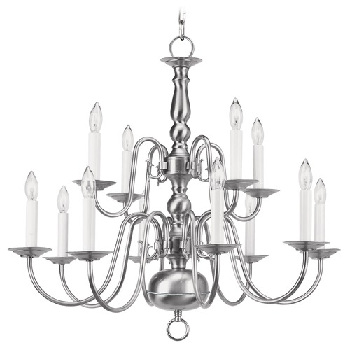 Livex Lighting Livex Lighting Williamsburg Brushed Nickel Chandelier 5012-91