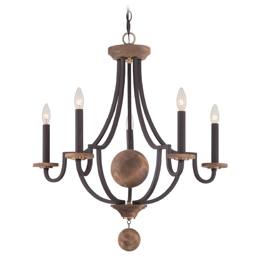 Quoizel Lighting Quoizel Wyndmoor Western Bronze Chandelier WDM5005WT
